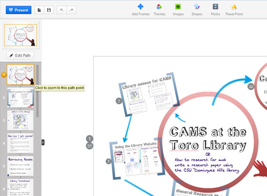 Make Library Instruction Zoom: Prezi as Presentation Tool