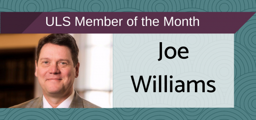 Joe Williams Member of the Month