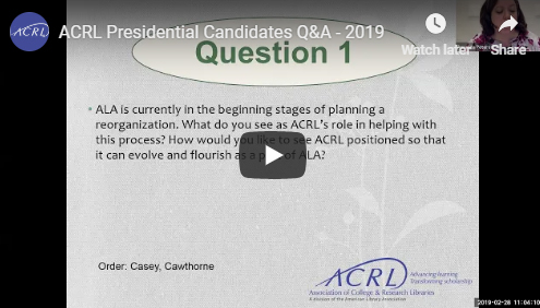 2019 ACRL candidates video screenshot