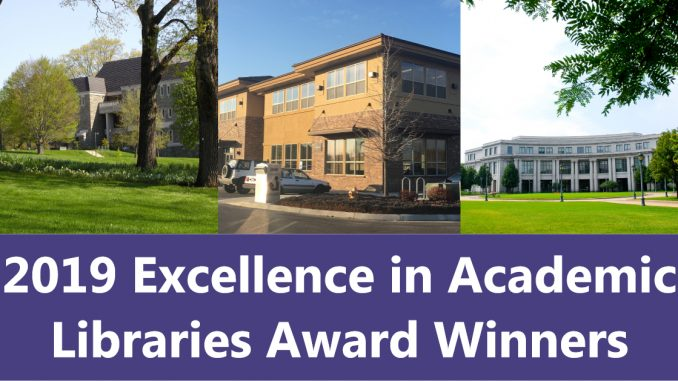 2019 Excellence in Academic Libraries winners