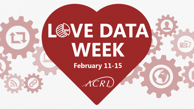 Love Data Week graphic with an adorable heart