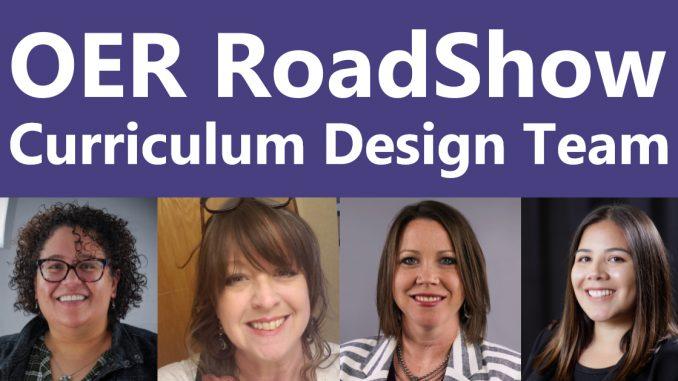 OER RoadShow presenters
