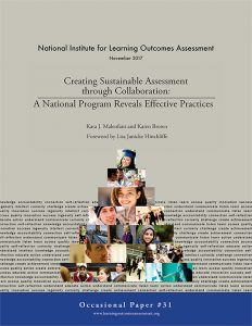 Creating Sustainable Assessment through Collaboration: