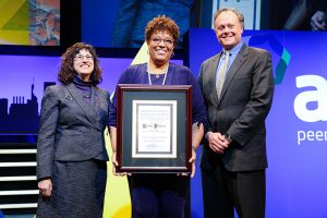 Loretta Parham award ceremony