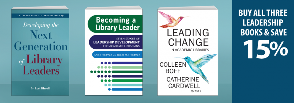 ACRL Leadership Books with discount text