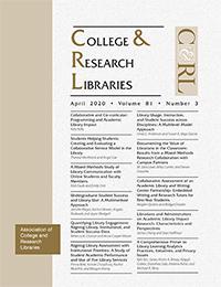April 2020 C&RL cover