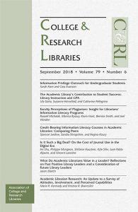 C&RL September 2018 cover