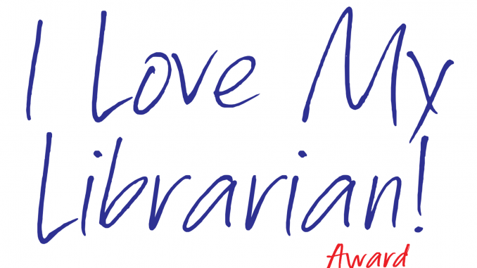 I Love My Librarian award logo