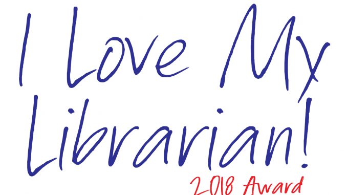 2018 I Love My Librarian Award logo