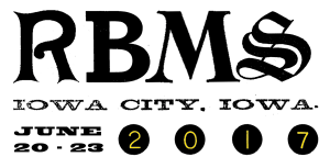 2017 RBMS Conference logo