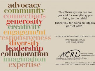 Happy Thanksgiving from ACRL