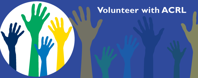 Volunteer with ACRL graphic with hands