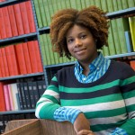 Natasha Johnson, librarian at the Math library. New faculty Purdue Libraries postcard (Mark Simons / Purdue University)